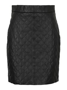 Federica Tosi - Quilted leather miniskirt in black