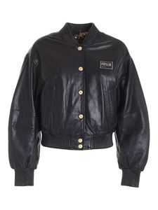 Versace Jeans Couture - Nr. Piece leather bomber jacket in black