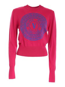 Versace Jeans Couture - V-Emblem sweater in fuchsia