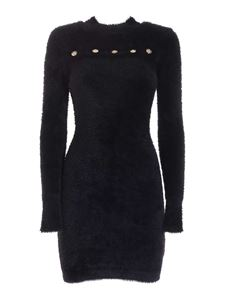 Versace Jeans Couture - Teddy effect dress in black