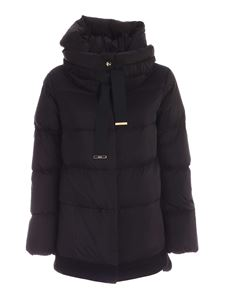 Herno - Wool inserts down jacket in black