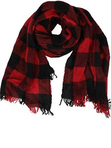 Department 5 - Checked scarf in red and black