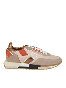 Ghoud Venice - Suede and fabric sneakers in pink and beige