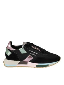 Ghoud Venice - Suede and fabric sneakers in black