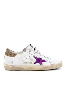 Golden Goose - Super Star sneakers in white and purple