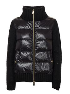 Herno - Wool and down jacket in  black