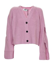 MSGM - Boxy fit cardigan in pink