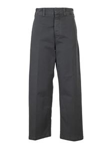 Department 5 - Stretch cotton trousers in gray