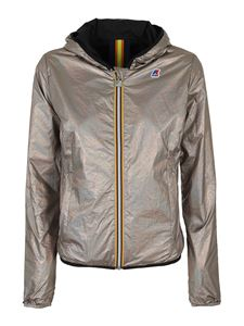 K-Way - Lily Plus.2 Double Metal jacket in silver color