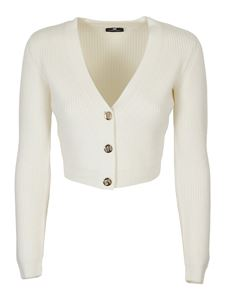 Elisabetta Franchi - Gold-tone buttons cardigan in white