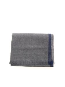 Fay - Contrasting edge scarf in grey