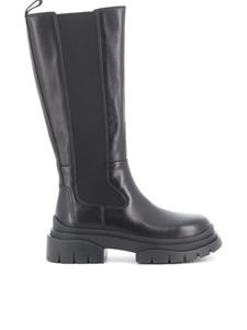 Ash - Stone boots in black