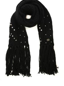 TWINSET - Embellished scarf in black