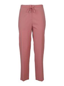 Theory - Soft wool trousers in pink