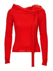 MSGM - Boat neck sweater in red