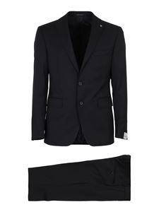 Tagliatore - Napoli wool and silk suit in blue