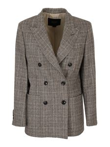 Seventy - Double breasted Prince of Wales blazer in grey