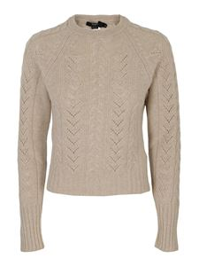 Seventy - Cable knit wool-cashmere blend sweater in beige