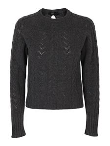 Seventy - Cable knit wool-cashmere blend sweater in grey