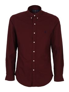 POLO Ralph Lauren - Oxford slim fit shirt in red