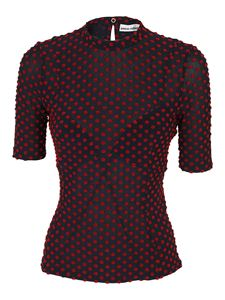 Paco Rabanne - Polka dot patterned top in blue