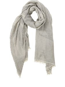 Patrizia Pepe - Patterned scarf in gray