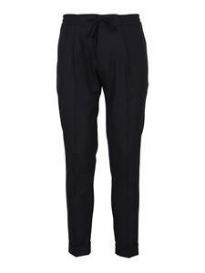 Paolo Pecora - Drawstring wool trousers in blue