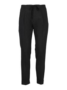 Paolo Pecora - Drawstring wool trousers in gray