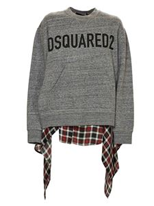 Dsquared2 - Checked pattern sweatshirt in grey