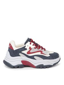 Ash - Addict sneakers in gray and red