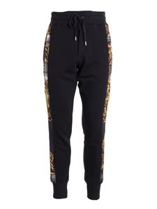 Versace Jeans Couture - Logo printed sweat pants in black