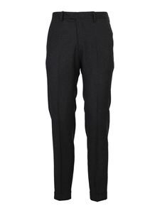 Briglia 1949 - Mélange wool tailored trousers in gray