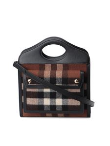 Burberry - Pocket mini bag in brown and black