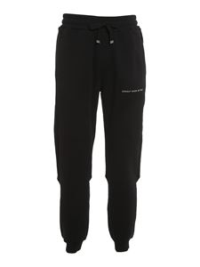 Dondup - Logo cotton joggers in black