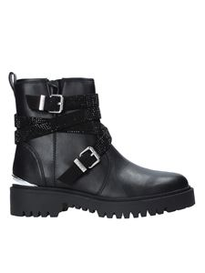 Guess - Ornina leather ankle boots in black