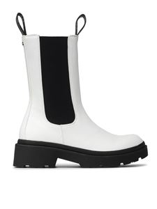 Guess - Lori leather ankle boots in white