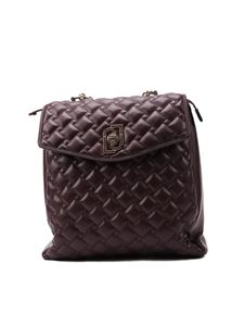 Liujo - Eco-friendly quilted backpack in Prugna color