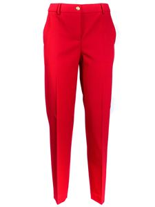 Moschino Boutique - Straight pants in red