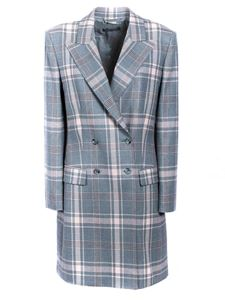 Alberta Ferretti - Checked jacket in grey and pink
