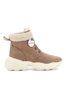 Hogan - H525 suede ankle boots in beige