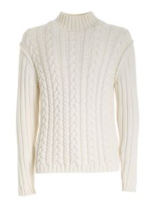 Les Copains - Cable knit turtleneck in white