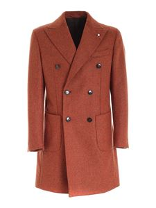 Brando - Double-breasted coat in rust color