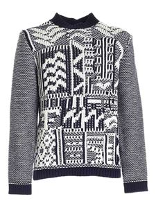 Les Copains - Knitted sweater in blue and white