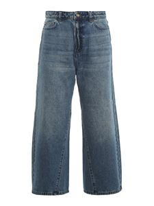 Michael Kors - Jeans flared in cotone blu