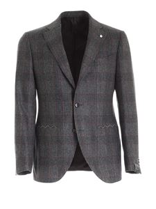 Brando - Prince of Wales check suit in gray