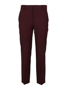 Theory - Cropped wool trousers in red