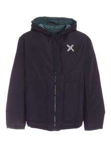Kenzo - Reversible down jacket in black and green