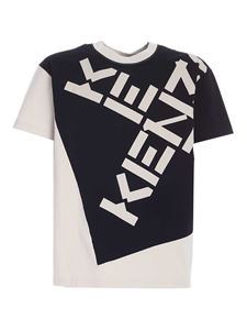 Kenzo - Sport T-Shirt in gray and black