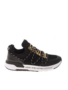 Versace Jeans Couture - Golden logo sneakers in black