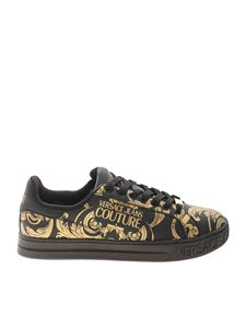 Versace Jeans Couture - Baroque sneakers in black